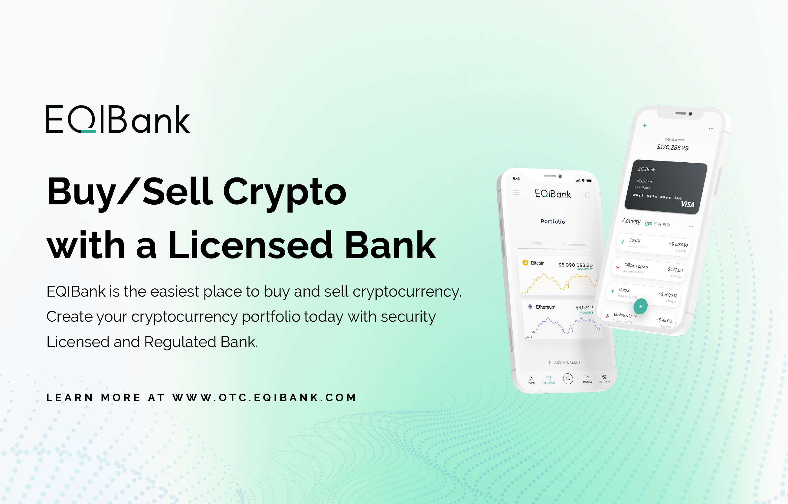 EQIBank OTC Buy and Sell Your Cryptocurrency From a Licensed Bank